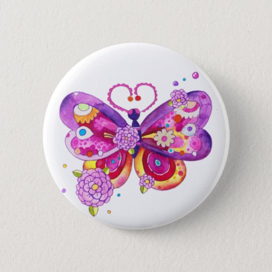 Magic Butterfly 6 Cm Round Badge