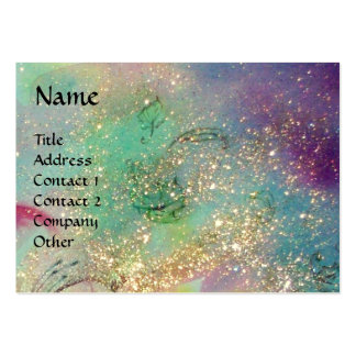 MAGIC BUTTERFLY Blue Green Yellow Gold Sparkles Business Card Templates