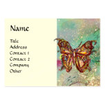 MAGIC BUTTERFLY IN GOLD AND BLUE SPARKLES PACK OF CHUBBY BUSINESS CARDS