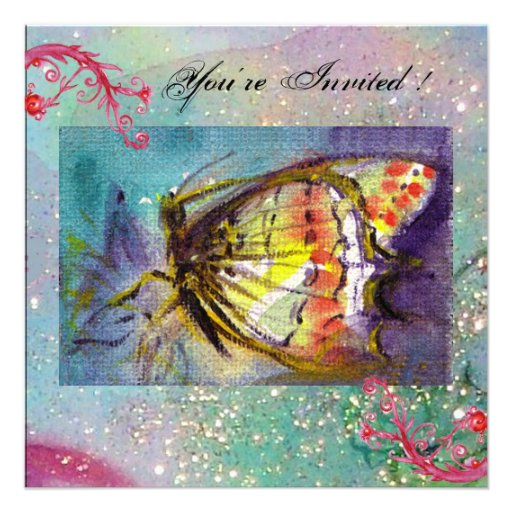 MAGIC BUTTERFLY PERSONALIZED INVITE