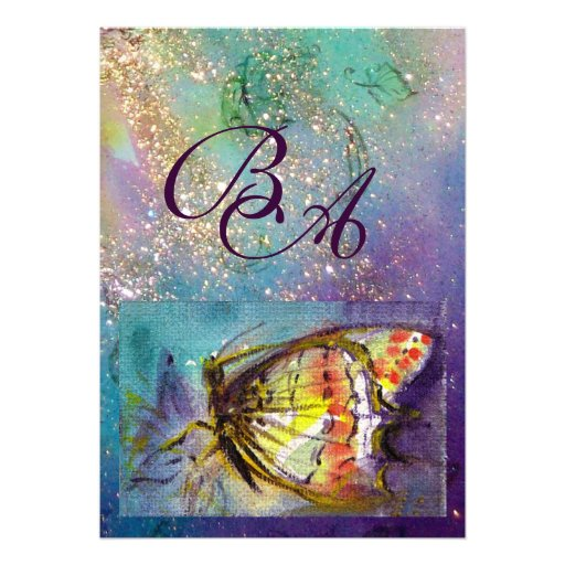 MAGIC BUTTERFLY PERSONALIZED INVITES