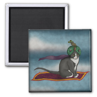 Magic Carpet Cat, magnet Fridge Magnets