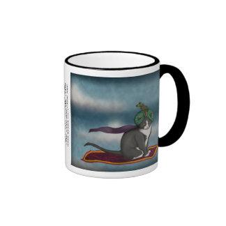 Magic Carpet Cat, mug