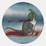 Magic Carpet Cat, sticker