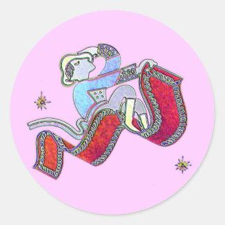 Magic Carpet Ride Round Stickers