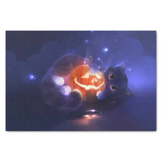 Magic Cat and Pumpkin Tissue Paper