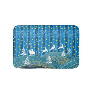Magic Christmas background. Bath Mat