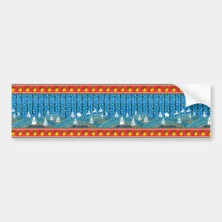 Magic Christmas background. Bumper Sticker