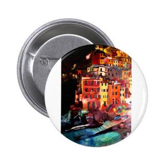 Magic Cinque Terre Night in Riomaggiore 6 Cm Round Badge