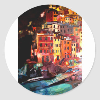 Magic Cinque Terre Night in Riomaggiore Stickers