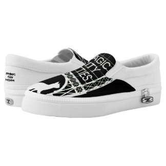 Magic City Kitties Custom Zips Slip-On Shoes