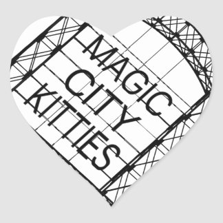 Magic City Kitties Heart Sticker