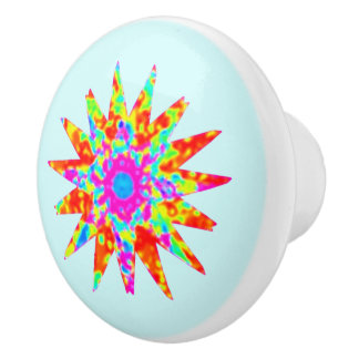 Magic Colourful Star Ceramic Knob