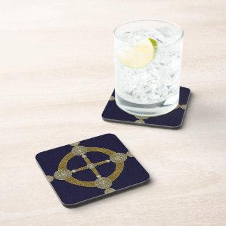 Magic Compass Abstract Art Beverage Coaster