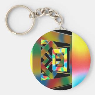 Magic Cubes Basic Round Button Key Ring