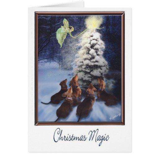 Magic Dachshund Christmas Cards