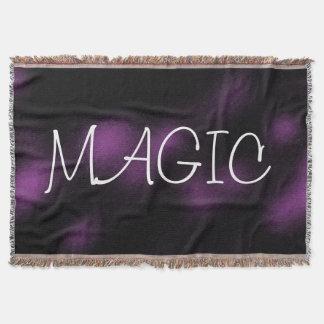 MAGIC Dark Purple Goth Style Throw Blanket