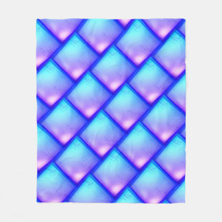 Magic diamond - purple and blue fleece blanket