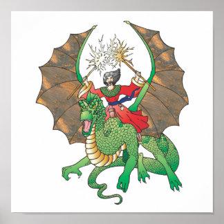 magic dragon sorcerer poster