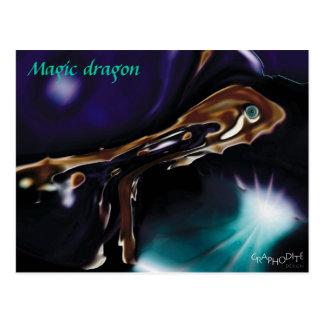 Magic Dragon - super Fantasykarte von Graphodite Postkarten