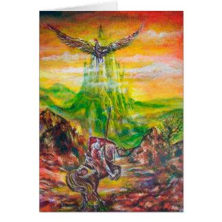MAGIC DUEL BETWEEN BRADAMANT AND NEGROMANCER GREETING CARD