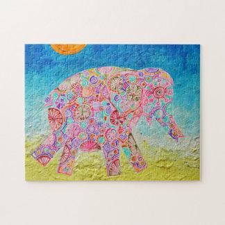 Magic elephant and sun - Magic Puzzle