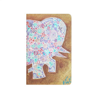 Magic elephant on stone wall - Magic Notebook