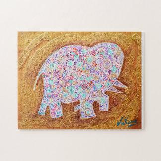 Magic elephant on stone wall - Magic Puzzle