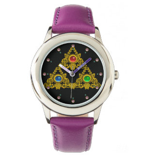 MAGIC ELFIC TALISMAN /GOLD TRIANGLE WITH GEMSTONES WATCHES
