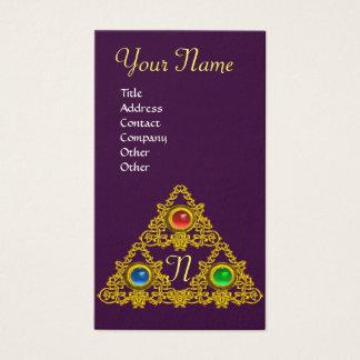 MAGIC ELFIC TALISMAN MONOGRAM, Gold Purple