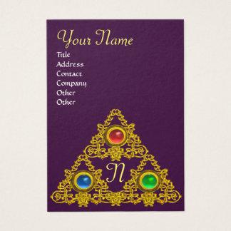 MAGIC ELFIC TALISMAN MONOGRAM,purple