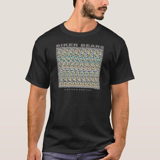 """Magic Eye® 3D """"Biker Bears"""" T-Shirt"""