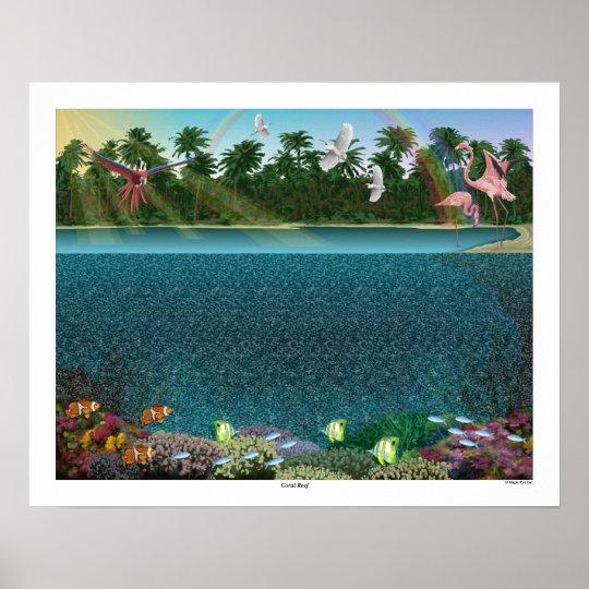 "Magic Eye® 3D ""Coral Reef"" Poster 20"" x"