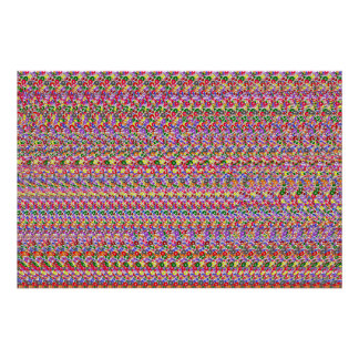 "Magic Eye® 3D ""Pool Sharks"" Poster 36"" x 24"""