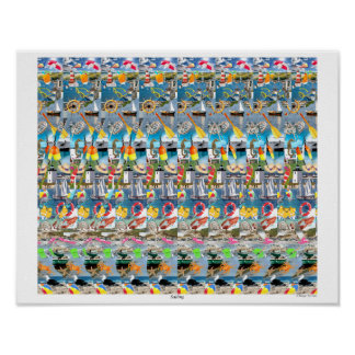 "Magic Eye® 3D ""Sailing"" Poster 16"" x 14"""