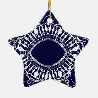 Magic Eye Ceramic Star Decoration