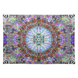 Magic Fairy Abstract Pattern In Purple Hues Placemat