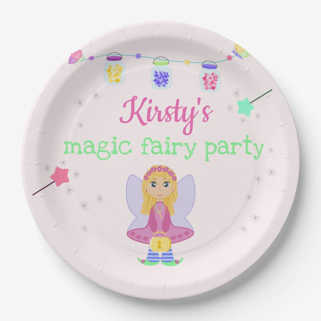 Magic Fairy Party | Girl's Birthday Celebration Paper Plate