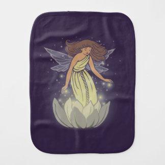 Magic Fairy White Flower Glow Fantasy Art Burp Cloths