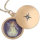 Magic Fairy White Flower Glow Fantasy Art Locket Necklace