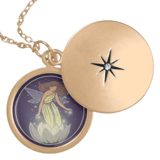 Magic Fairy White Flower Glow Fantasy Art Locket Necklace