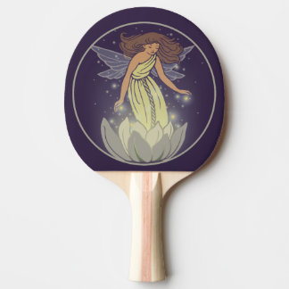 Magic Fairy White Flower Glow Fantasy Art Ping Pong Paddle