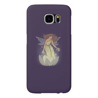 Magic Fairy White Flower Glow Fantasy Art Samsung Galaxy S6 Cases