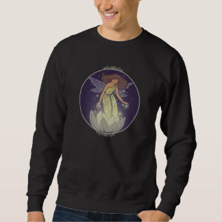 Magic Fairy White Flower Glow Fantasy Art Sweatshirt