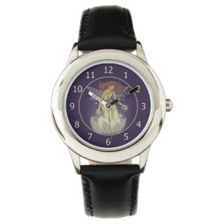 Magic Fairy White Flower Glow Fantasy Art Watch