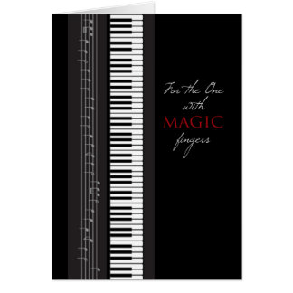Magic Fingers Piano Happy Birthday Greeting Card