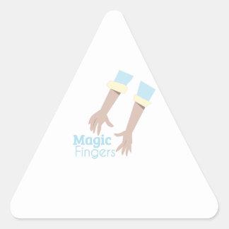 Magic Fingers Triangle Sticker