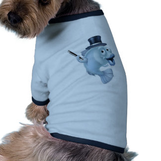 Magic fish cartoon ringer dog shirt