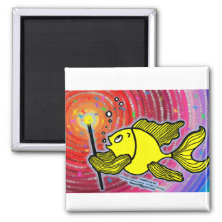 Magic Fish cute funny sparky comics make a wish Magnet