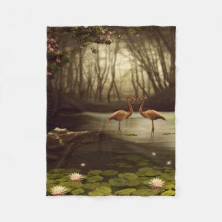 Magic Flamingos Small Fleece Blanket